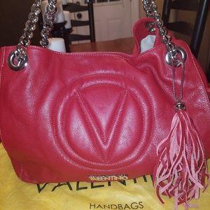 Authentic Valentino Verra Red Leather Handbag